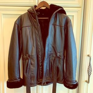 Wilson's leather fur coat